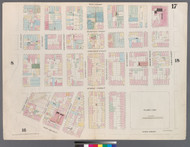 New York City, NY Fire Insurance 1857 Sheet 17 V1 - Old Map Reprint - New York