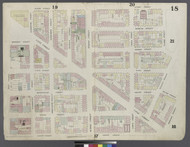 New York City, NY Fire Insurance 1857 Sheet 18 V1 - Old Map Reprint - New York