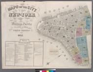 New York City, NY Fire Insurance 1857 Volume 2 Index V2 - Old Map Reprint - New York
