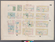 New York City, NY Fire Insurance 1857 Sheet 19 V2 - Old Map Reprint - New York