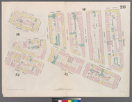 New York City, NY Fire Insurance 1857 Sheet 20 V2 - Old Map Reprint - New York