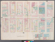 New York City, NY Fire Insurance 1857 Sheet 21 V2 - Old Map Reprint - New York