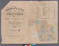 New York City, NY Fire Insurance 1859 Volume 3 Index V3 - Old Map Reprint - New York