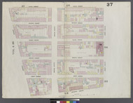 New York City, NY Fire Insurance 1859 Sheet 37 V3 - Old Map Reprint - New York