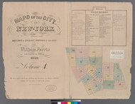 New York City, NY Fire Insurance 1859 Volume 4 Index V4 - Old Map Reprint - New York