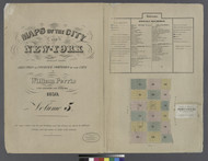 New York City, NY Fire Insurance 1859 Volume 5 Index V5 - Old Map Reprint - New York