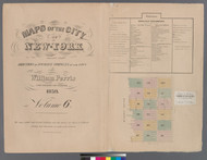 New York City, NY Fire Insurance 1859 Volume 6 Index V6 - Old Map Reprint - New York