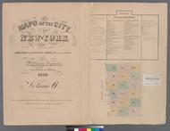 New York City, NY Fire Insurance 1859 Volume 6 Index V6 - Old Map Reprint - New York