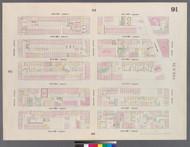 New York City, NY Fire Insurance 1859 Sheet 91 V6 - Old Map Reprint - New York