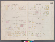 New York City, NY Fire Insurance 1859 Sheet 102 V6 - Old Map Reprint - New York
