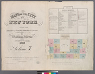 New York City, NY Fire Insurance 1862 Volume 7 Index V7 - Old Map Reprint - New York