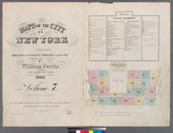 New York City, NY Fire Insurance 1862 Volume 7 Index V7 - Old Map Reprint - New York