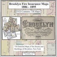 Brooklyn, NY Fire Insurance Maps 1886-1895 on CD