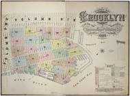 Brooklyn, NY Fire Insurance 1886 Volume 1 Index V1 - Old Map Reprint - New York