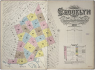 Brooklyn, NY Fire Insurance 1887 Volume 3 Index V3 - Old Map Reprint - New York
