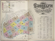 Brooklyn, NY Fire Insurance 1887 Volume 4 Index V4 - Old Map Reprint - New York