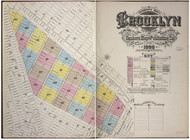 Brooklyn, NY Fire Insurance 1888 Volume 5 Index V5 - Old Map Reprint - New York