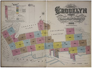Brooklyn, NY Fire Insurance 1888 Volume 6 Index V6 - Old Map Reprint - New York