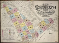 Brooklyn, NY Fire Insurance 1888 Volume 7 Index V7 - Old Map Reprint - New York