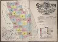 Brooklyn, NY Fire Insurance 1887 Volume 8 Index V8 - Old Map Reprint - New York