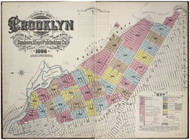 Brooklyn, NY Fire Insurance 1888 Volume 9 Index V9 - Old Map Reprint - New York