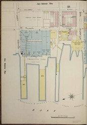 Brooklyn, NY Fire Insurance 1886 Sheet 1-L V1 - Old Map Reprint - New York