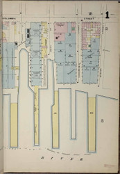 Brooklyn, NY Fire Insurance 1886 Sheet 1-R V1 - Old Map Reprint - New York