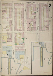 Brooklyn, NY Fire Insurance 1886 Sheet 2-R V1 - Old Map Reprint - New York