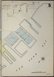 Brooklyn, NY Fire Insurance 1886 Sheet 5-R V1 - Old Map Reprint - New York