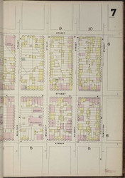 Brooklyn, NY Fire Insurance 1886 Sheet 7-R V1 - Old Map Reprint - New York