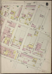 Brooklyn, NY Fire Insurance 1886 Sheet 8-R V1 - Old Map Reprint - New York