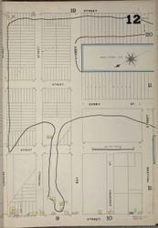 Brooklyn, NY Fire Insurance 1886 Sheet 12-R V1 - Old Map Reprint - New York