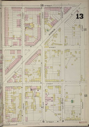 Brooklyn, NY Fire Insurance 1886 Sheet 13-R V1 - Old Map Reprint - New York
