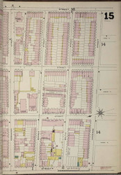 Brooklyn, NY Fire Insurance 1886 Sheet 15-R V1 - Old Map Reprint - New York
