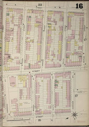 Brooklyn, NY Fire Insurance 1886 Sheet 16-R V1 - Old Map Reprint - New York