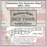 Manhattan, NY Fire Insurance Maps 1894-1903 on CD