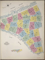 Manhattan, NY Fire Insurance 1894 Index Map V1 - Old Map Reprint - New York