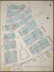 Manhattan, NY Fire Insurance 1894 Sheet 1 V1 - Old Map Reprint - New York