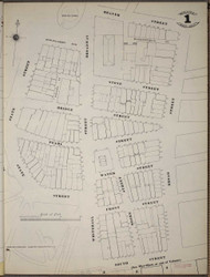 Manhattan, NY Fire Insurance 1894 Sheet 1 SW V1 - Old Map Reprint - New York