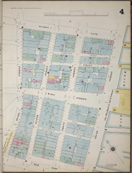 Manhattan, NY Fire Insurance 1894 Sheet 4 V1 - Old Map Reprint - New York
