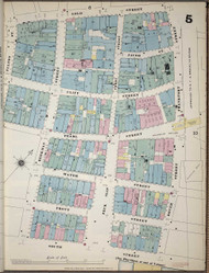 Manhattan, NY Fire Insurance 1894 Sheet 5 V1 - Old Map Reprint - New York