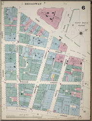 Manhattan, NY Fire Insurance 1894 Sheet 6 V1 - Old Map Reprint - New York