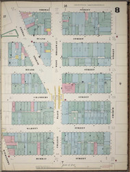 Manhattan, NY Fire Insurance 1894 Sheet 8 V1 - Old Map Reprint - New York