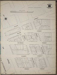 Manhattan, NY Fire Insurance 1894 Sheet 8 SW V1 - Old Map Reprint - New York