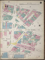 Manhattan, NY Fire Insurance 1894 Sheet 9 V1 - Old Map Reprint - New York