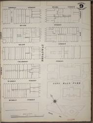 Manhattan, NY Fire Insurance 1894 Sheet 9 SW V1 - Old Map Reprint - New York