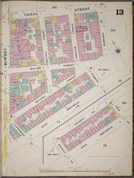 Manhattan, NY Fire Insurance 1894 Sheet 13 R V1 - Old Map Reprint - New York