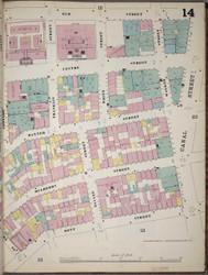 Manhattan, NY Fire Insurance 1894 Sheet 14 R V1 - Old Map Reprint - New York