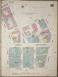 Manhattan, NY Fire Insurance 1894 Sheet 16 V1 - Old Map Reprint - New York