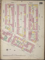 Manhattan, NY Fire Insurance 1894 Sheet 20 R V1 - Old Map Reprint - New York
